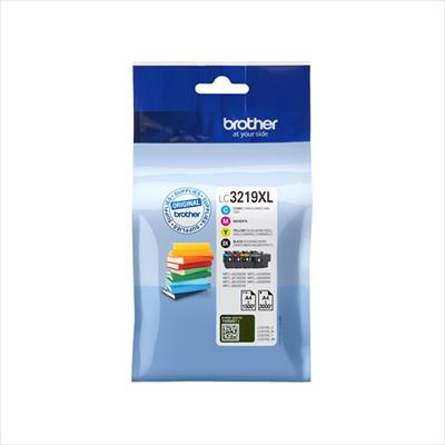 Ink BROTHER LC-3219XL VALUE PACK 4 Colors (1 Black, 1 Cyan, 1 Magenta, 1 Yellow) - 7.500 σελ.